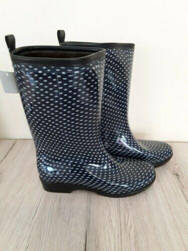 Damen Regenstiefel Gummistiefel gefüttert schwarz Neu 36 37 38 39 40 41 Stiefel