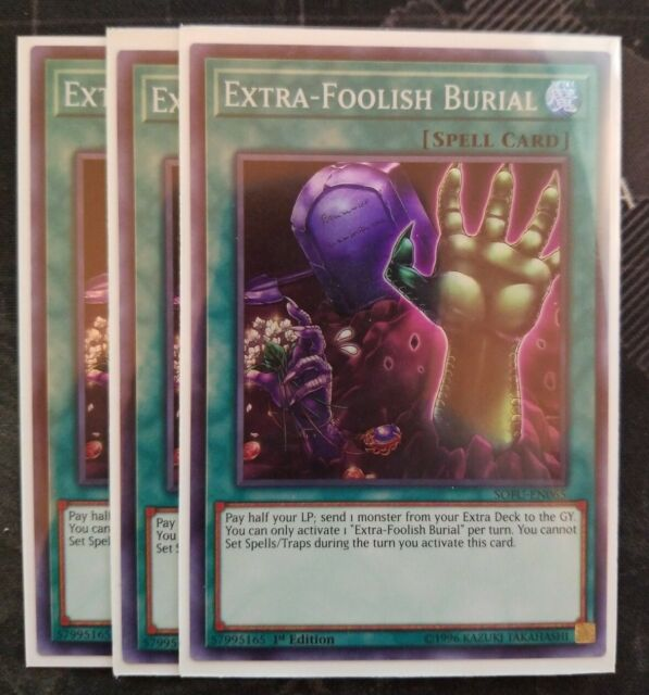 3x Extra-Foolish Burial 1st Edition Rare MAGO-EN055 Yu-Gi-Oh!
