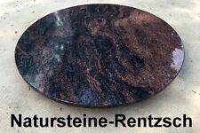 Naturstein Tischplatte rund Gartentischplatte Couchtischplatte rot/schwarz  D100