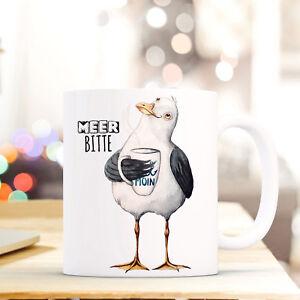 Geschenk- & Werbeartikel Offen Lustige Tasse Becher Kaffeebecher Druck Kaffetasse Möwe Spruch Meer Bitte Ts640 SchöN Und Charmant Baby