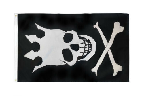 Crown Skull Crossbones Pirate Flag 3x5 Jolly Roger Pirate Flag Vertical Pirate