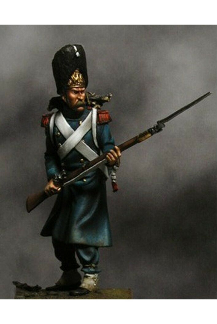 French Grenadier of Old Guard at Russia 54mm 1 32 Tin Painted Toy Soldier   Art