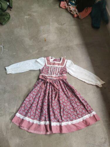 Vintage Child Girls Dress Gunne Sax Floral Lace P… - image 1