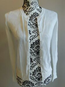 OLD-NAVY-womens-white-cardigan-sweater-sz-small-GREAT-FOR-THE-OFFICE-more-listed