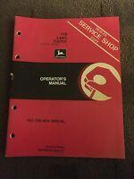 John Deere 116 Lawn Tractors Operator's Manual