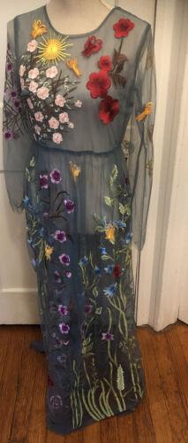BLUEOXY  Embroidered Gauze Dress