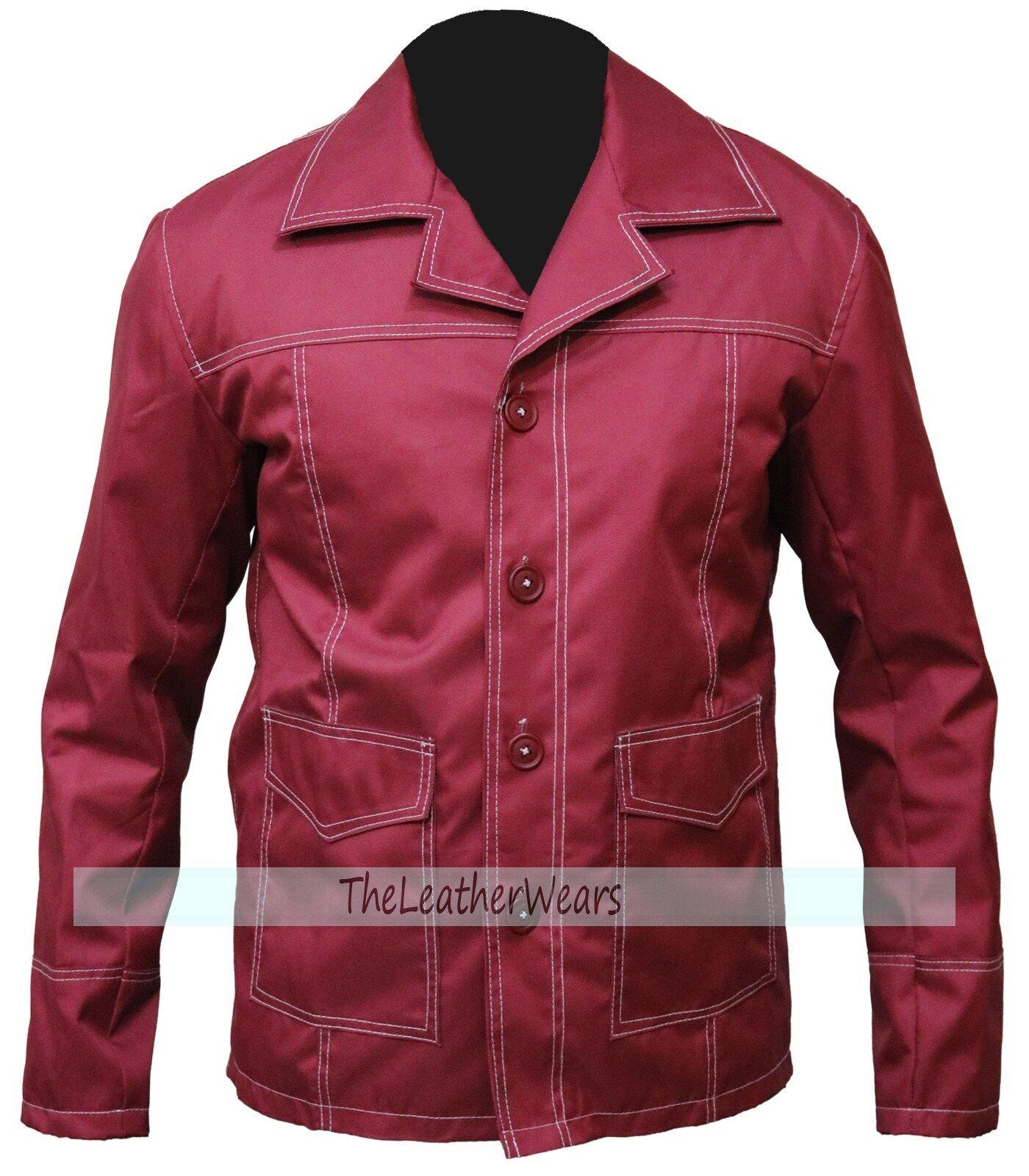 Cordura Jacket -  FC Coat , rot  Fight Club Brad Pitt - All Größes