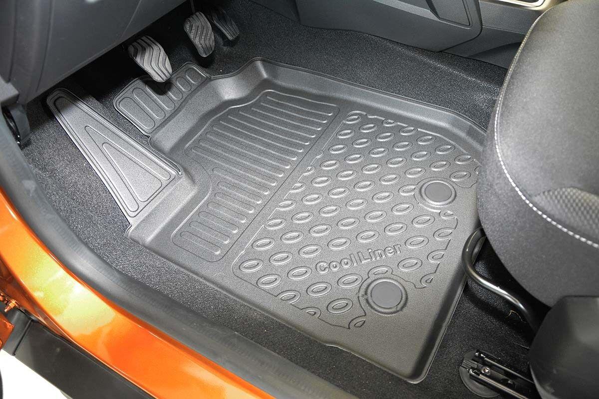 Autositzbezug maßgefertigt im Design TRENDLINE Renault Master III in DUNKEKROT.