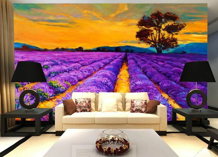 3D Lavender Garden 77 WallPaper Murals Wall Print Decal Wall Deco AJ WALLPAPER