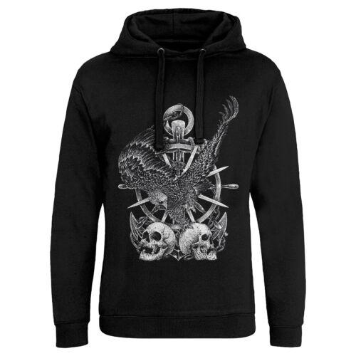 Eagle Skull Horror Hoodie Marine Anchor Ship Wheel Death Goth Gothic Grim P240