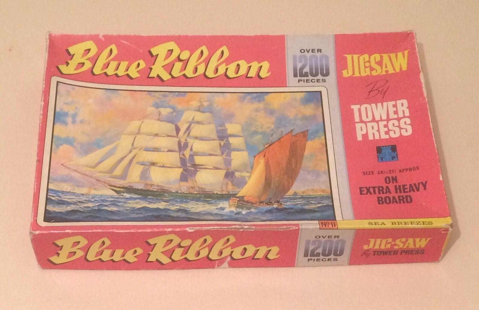 VINTAGE Blue Ribbon Puzzle da Tower Press Sea Breeze No.11