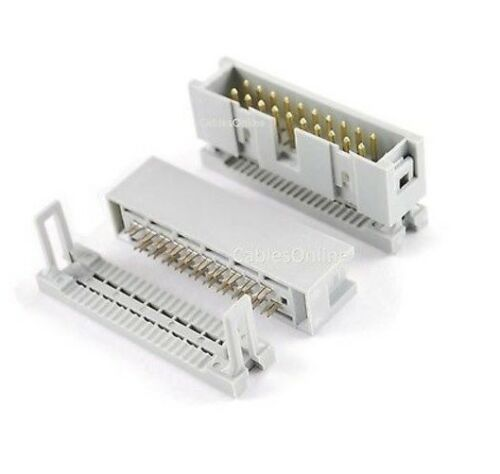 25-Pack 20-Pin Male IDC Flat Ribbon Cable Box Header 2.54mm Pitch Connectors