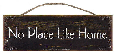 No Place Like Home Rustic Wall Sign Plaque Gifts Men Ladies Homestead Kitchen