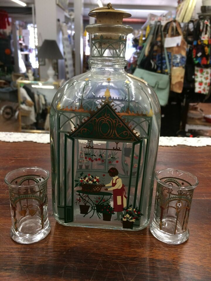 Glas, Holmegaard julekaraffel+snapseglas, Holmegaard