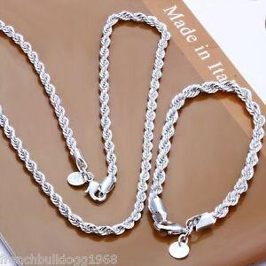 Damen-Schmuckset-Kette-Armband-925er-Silber-plt-und-gestempelt-Edel-Set4