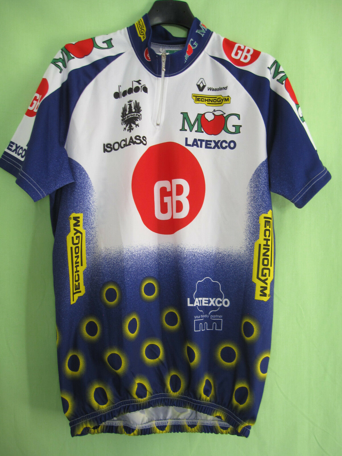 Maillot cycliste GB MG Boys Latexco Jersey cycling Diadora Vintage - 5   XL