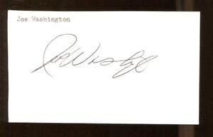 Joe-Washington-Signed-Index-Card-3x5-Autographed-CFHOF-Oklahoma-Sooners-42134