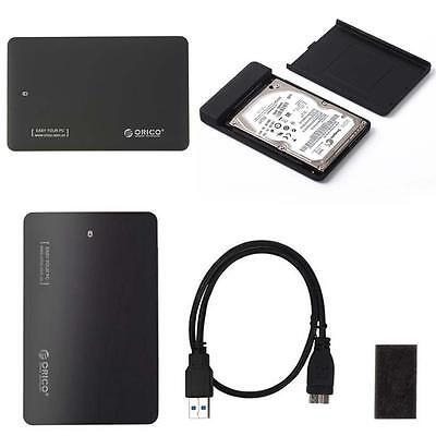 "USB3.0 SATA External 2.5"" SSD HDD ORICO2599US3 Hard Drive Enclosure Disk Case BG"