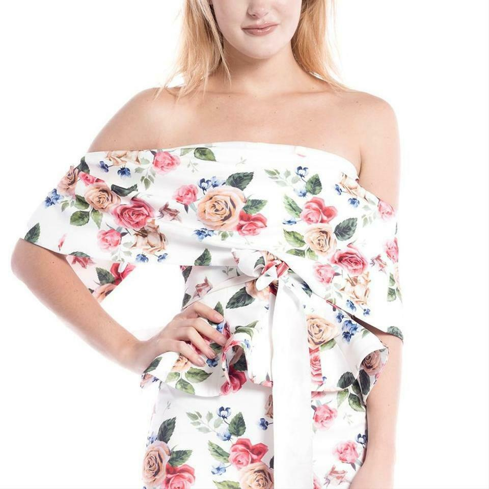 NWT  Gracia floral off The Shoulder Top