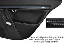 WHITE STITCH 2X REAR DOOR CARD SKIN COVERS FITS VAUXHALL OPEL VECTRA C SIGNUM
