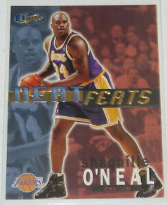 1997-98-Shaquille-O-039-Neal-Lakers-Fleer-Ultra-Neat-Feats-Insert-Card-4of18NF-NM