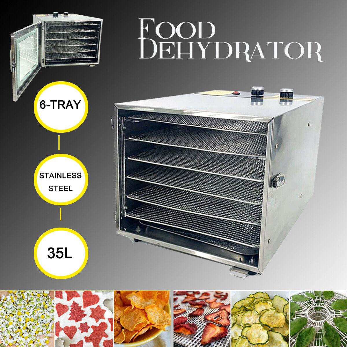 6 Stackable Trays Electric Food Dehydrator Machine Digital F