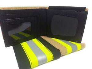 Firefighter-Badge-Wallet-Reflective-Turnout-Fabric-Portefeuille-Pompier