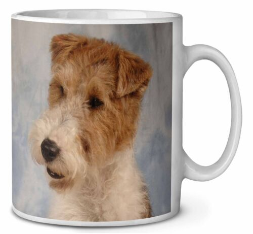 Fox Terrier Dog Coffee Mug Christmas Stocking Filler Gift Idea, ADWHT1MG