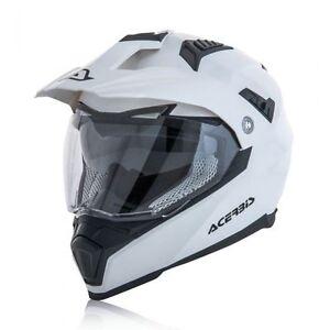 ACERBIS-FLIP-FS-606-CASCO-HELMET-ENDURO-MOTARD-ATV-BIANCO-LUCIDO