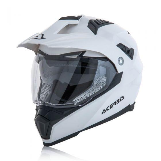 ACERBIS FLIP FS 606 CASCO HELMET ENDURO MOTARD ATV BIANCO LUCIDO