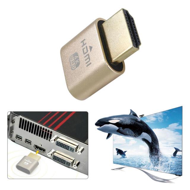 4K 3840x2160 60Hz Virtual HDMI EDID Dummy Plug Headless Ghost Display Emulators