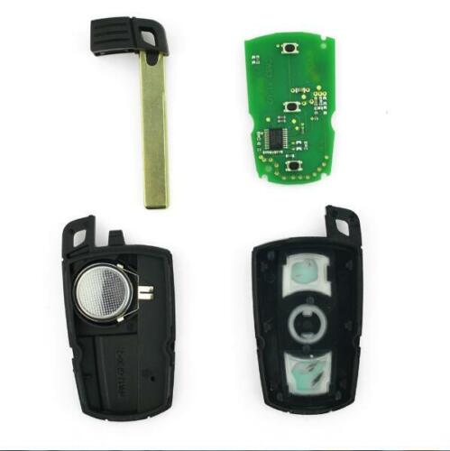 New Black 315Mhz Smart Uncut Blade Key with Electric Transponder Chips For BMW