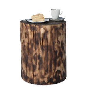 Baumstamm gartendeko hocker massivholz fichte geflammt for Gartendeko baumstamm
