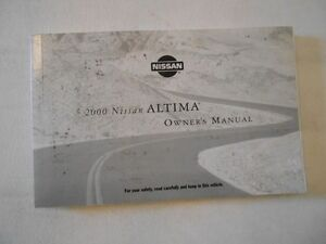 2000 nissan altima nice factory complete owners manual instruction rh ebay co uk owners manual for 2000 nissan altima gxe 2010 Nissan Altima