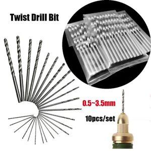 10pcs-Micro-High-Speed-Mini-Twist-Drill-Bits-Electric-Drill-Rotary-Power-Tools