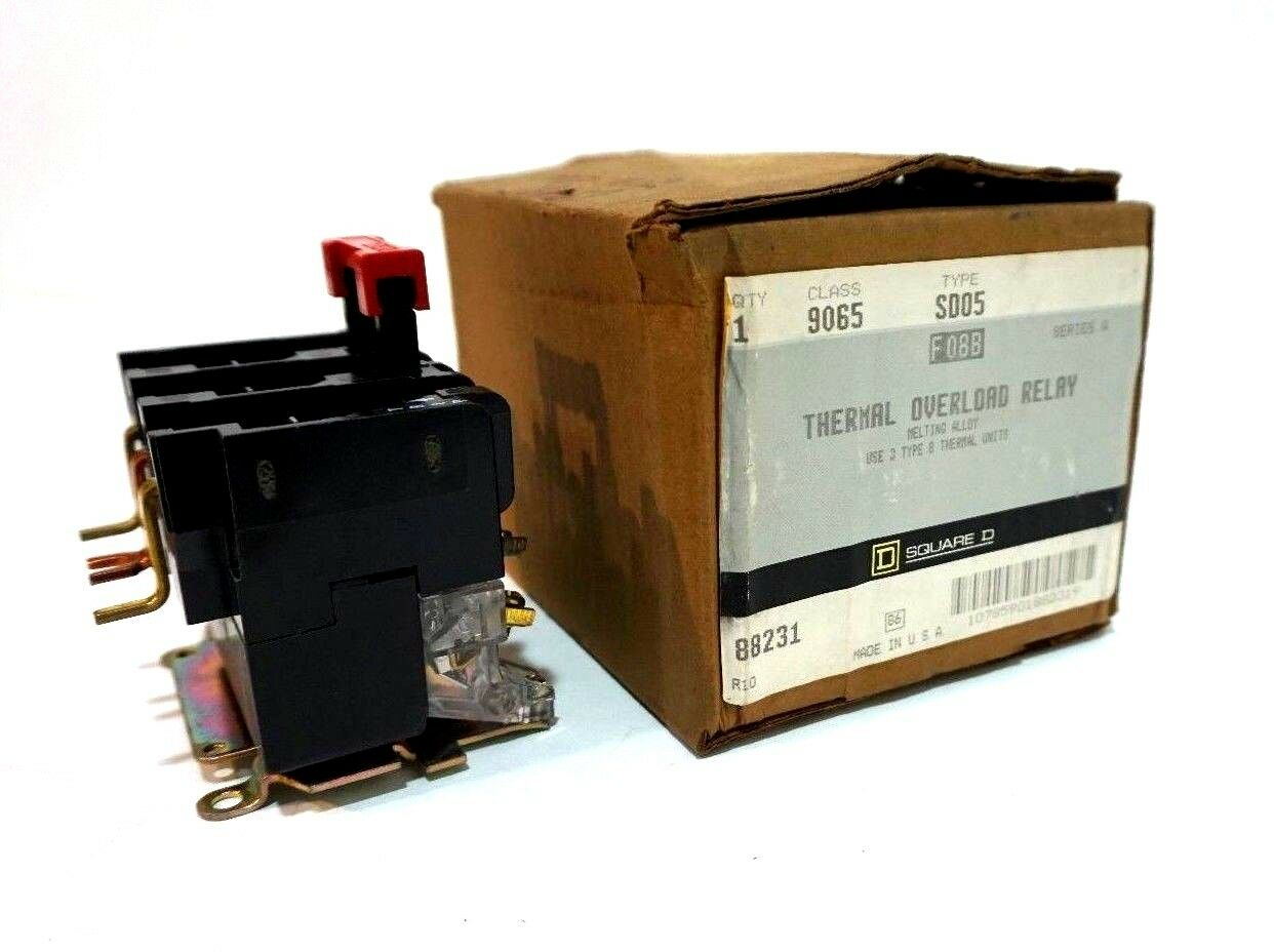NEW SQUARE D 9065-SD05 THERMAL OVERLOAD RELAY SER.A 9065SD05