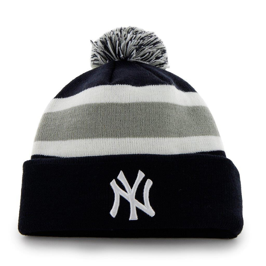 MLB  Wintermütze Wollmütze NEW YORK YANKEES YANKEES YANKEES NY navy cuffed knit hat Pommel a68da7