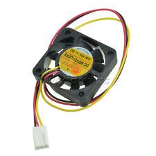 2 Pcs 3 Pin 40mm Square PC Computer Cooling Fan DC 12V Black 0.10A 4*4*1cm CP