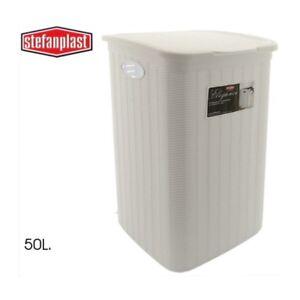 Cesto-Ropa-Sucia-50L-Resistente-Almacenaje-Con-Tapa-Superior-Facil-de-Limpiar