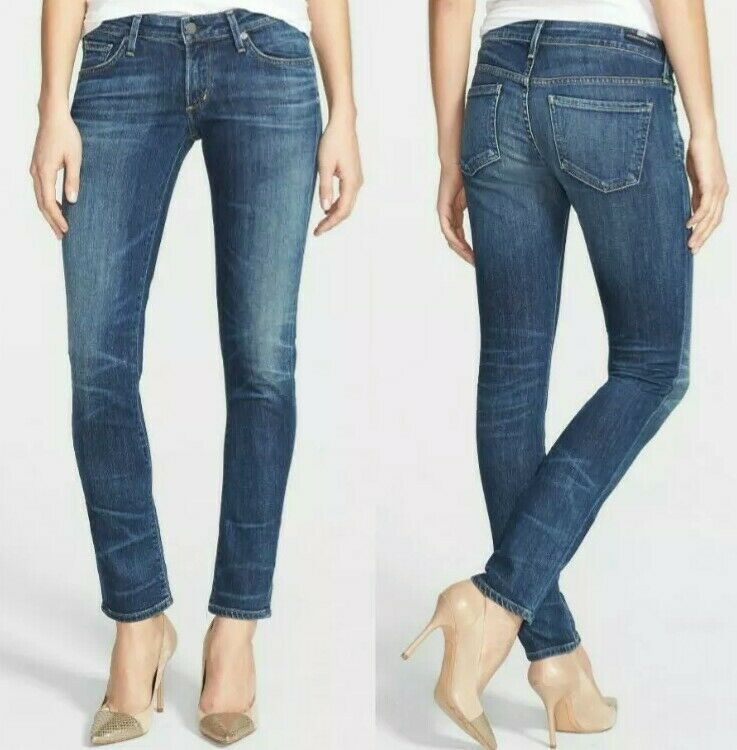 Citizens of Humanity Racer Low Rise Skinny Distressed Jeans in Patina 28