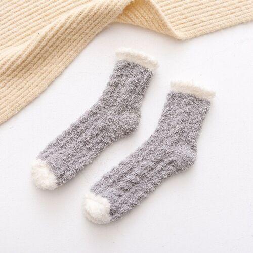 Women Winter Fluffy Coral Velvet Socks Thick Thermal Warm Soft Bed Floor Sock