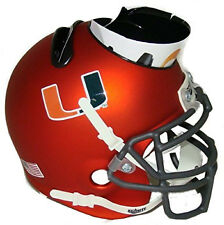Miami Hurricanes (Matte Orange) NCAA Football Schutt Mini Helmet Desk Caddy