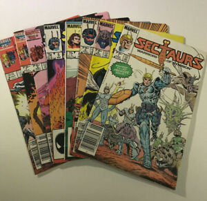 Sectaurs-1-8-Jun-1985-Marvel-Complete-Set-Mark-Texeira-Full-Run-First-Prints