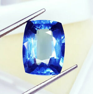 10.77 Ct Loose Gemstone Natural Blue Sapphire Transparent Ring Use GGL Certified