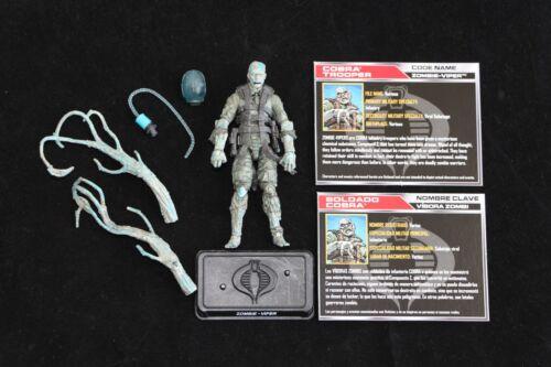 Gi joe Hasbro 50th zombie patrol 2 Pack Zombie Viper Figure complet Comme neuf