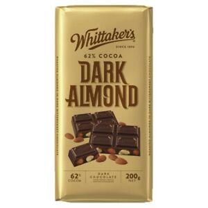 Whittaker's Block Chocolate Dark Almond 62% 200 gram