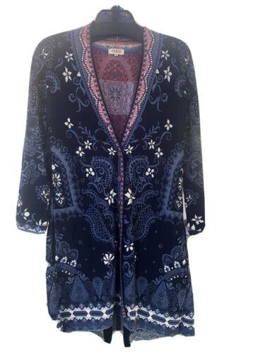 IVKO Jacquard Long Sweater Coat Size M or 38