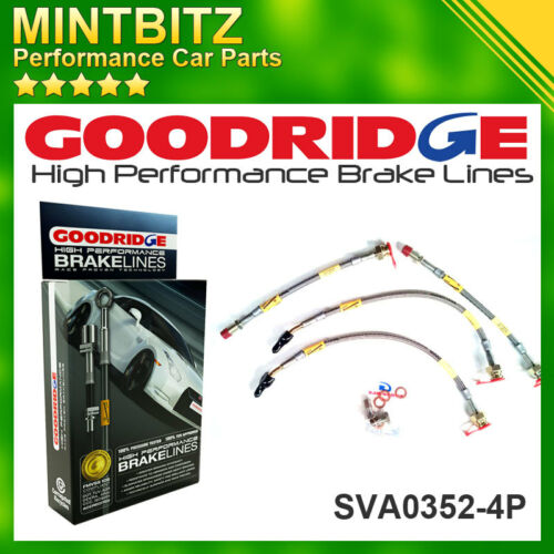 88-95 Zinc Plated Goodridge Brake Hoses SVA0352-4P 4x4 Vauxhall Cavalier Mk 3