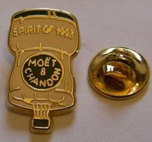 CHAMPAGNE-MOET-ET-CHANDON-spirit-of-93-HOT-BALLOON-French-Wine-vintage-pin-badge