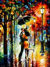"DANCE UNDER THE RAIN  —  Oil Painting On Canvas By Leonid Afremov - Size:30""x40"""